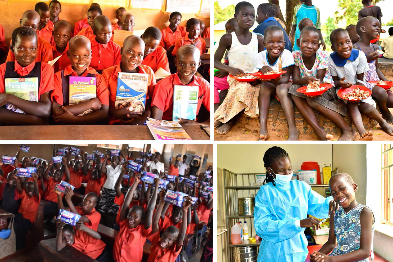 The fortunate 100 girls with sponsorship and scholarships